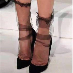 Accessories - Mesh lace trim socks/stockings